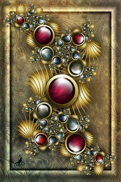 Fractal 'RenaissanceJewels' / by coby01 on deviantART
