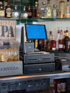 Coffee Shop Counter, Point Of Sale, Pos, Liquor Cabinet, Mini, Board, Shopping, Home Decor, Ale