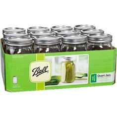 Ball 12-Count Wide Mouth Quart Jars with Lids and Bands at Walmart $12.00