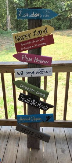 Peter Pan directional sign for my Pirate Themed classroom!
