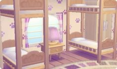 A little home for little cats - Animal Crossing - - Acnl - Animal Crossing Pocket Camp, Animal Crossing Qr, Ac New Leaf, Pastel Room, Happy Home Designer, Animal Games, Home Upgrades, Little Houses, Room Inspiration