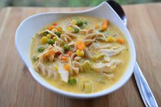 This creamy, feel-good take on classic chicken noodle soup is full of vegetables, and so easy to make you'll wonder why you never did it this way before!