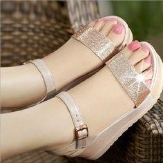 high-heeled sandals wedge heel 846178