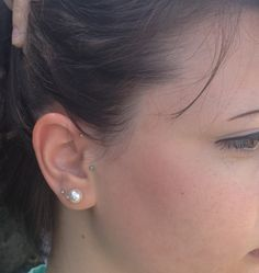 Tragus and Forward Helix piercings