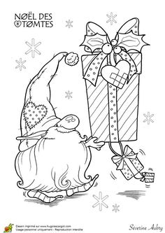 free scandinavian folk patterns coloring pages leaves Christmas Gnome, Christmas Colors, Christmas Art, Christmas Coloring Pages, Coloring Book Pages, Illustration Noel, Christmas Drawing, Christmas Embroidery, Christmas Printables