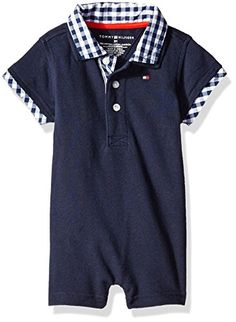 d5bae253 Tommy Hilfiger Baby Boys Baxter Romper Swim Navy 6 Months *** You can find