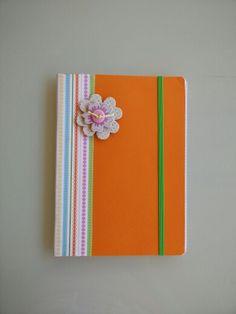 Cuaderno naranja Scrap