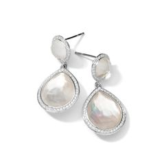 IPPOLITA LOLLIPOP® EARRINGS IN STERLING SILVER WITH DIAMONDS (COLOR: MOTHER-OF-PEARL) BY IPPOLITA. #ippolita #