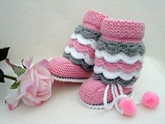 Please visit our website for Crochet Boot Socks, Crochet Baby Boots, Knit Baby Booties, Knitted Baby Clothes, Knitting Baby Girl, Knitting For Kids, Baby Girl Patterns, Baby Knitting Patterns, Baby Cardigan