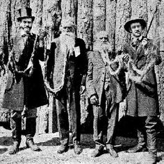 Zachariah & Hans Langseth Rare Photo at Sacramento Days 1949    longest beards Ever