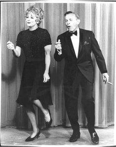 """Lucy and George Burns dance on """"The Lucy Show"""" Hollywood Actor, Golden Age Of Hollywood, Vintage Hollywood, Classic Hollywood, I Love Lucy Show, Everybody Dance Now, Lucille Ball Desi Arnaz, Jack Benny, George Burns"""