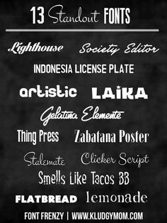 13 Standout Fonts | Font Frenzy  ~~  {13 free fonts w/ easy download links}