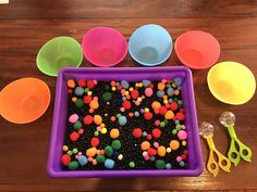 3 Year Old Montessori Activities, Fall Activities For Toddlers, Gross Motor Activities, Autumn Activities, Sensory Activities, Sensory Tubs, Sensory Rooms, Sensory Play, Diy Educational Toys