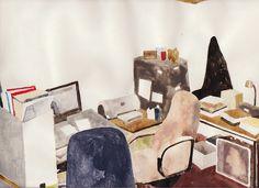 oldstyle  room by BianBianWanーバー, via Flickr  me recuerda a Mamma Andersson