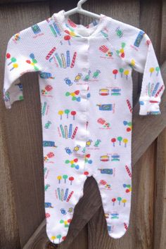 Penny Candy 70s Sleeper 6/9 Months by lishyloo on Etsy, $5.00