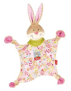 "Sigikid Comforter Bungee Bunny £17.60  Long ears, four knotted paws and cuddly soft ""fur"" – that's Bungee Bunny. This wonderful comforter has an elaborate design and is always there for little ones as a playmate and companion."
