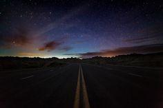 Badlands National Park, South Dakota #highway #night #longexposure #stars #badlands #photography