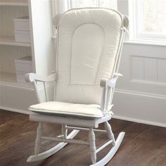 Solid Ivory Rocking Chair Pad