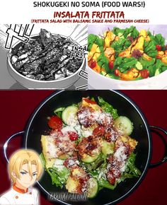 Shokugeki no Soma (Food Wars!) | Insalata Frittata | Manga/Anime/Real Life | (c) to their respective owners ||| Real-life recipe from Ah Nouille's YouTube Channel https://www.youtube.com/channel/UC2jpqEy9JCUf3GvUTVv9zHw