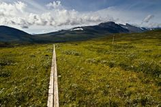 """Kungsleden – Sweden: Also known as """"The King's Trail,"""" this 275-mile trek will give you a tour of some of Sweden's most beautiful landscapes, running through four national parks and a nature reserve. Unless you want to spend a month hiking, stick to the northernmost 65 miles"""
