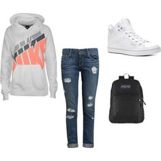 """""""cute lazy outfit for school"""" by sammymarietrey on Polyvore"""
