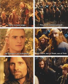 Lord of the Rings/The Hobbit parallel Legolas, Aragorn, Thranduil, Fellowship Of The Ring, Lord Of The Rings, O Hobbit, Hobbit Feet, Concerning Hobbits, An Unexpected Journey