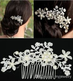 Wholesale 2014 Fashion Bridal Wedding Tiaras Stunning Fine Comb Bridal Jewelry Accessories Crystal Pearl Hair Brush JH02052*1, Free shipping, $5.47/Piece | DHgate Mobile