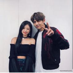 """ᴰ ᴵ ᴺ ᴬ ♔ on Twitter: """"If Taehyung's gonna be with someone it needs to be Jennie, they would be the cutest #taennie … """""""