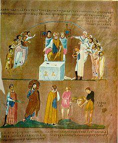 Codex Rossanensis: manoscritto greco del VI secolo, miniato, è stato ritrovato nell'Ottocento nella cattedrale di Rossano (Cosenza) dove tuttora si trova