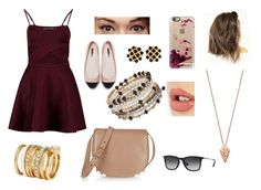 """""""Zoe"""" by cri-bad on Polyvore featuring Boohoo, Pamela Love, H&M, Casetify, Charlotte Tilbury, Benefit, Ray-Ban, Zara, Alexander Wang and Chanel"""