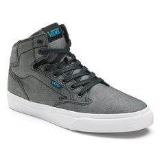 Vans Winston Men's High-Top Skate Shoes ❤ liked on Polyvore featuring men's fashion, men's shoes, men's sneakers, mens high top shoes, mens sneakers, mens hi tops, mens hi top shoes and mens high tops
