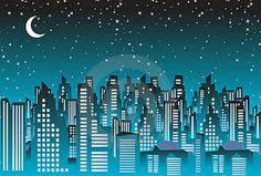 Una noche estrellada en la ciudad.
