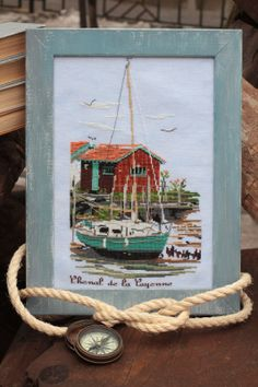 Cross Stitch Sea, Cross Stitch Samplers, Cross Stitching, Cross Stitch Embroidery, Sea Dweller, Stitch 2, Needlepoint, Seaside, Creative