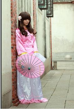 Lovely Pink Axis Powers Hetalia Cosplay Taiwan Girls Custome Sell Online