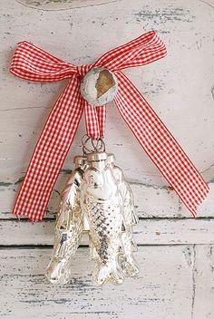 Silver Fish Tree Decorations