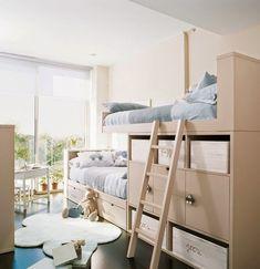 Toddler Bunk Beds — The Darien Designs Room Design Bedroom, Kids Room Design, Home Bedroom, Kids Bedroom, Toddler Bunk Beds, Kid Beds, Bunk Beds With Storage, Modern Bunk Beds, Bunk Rooms