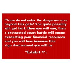 Do Not #Enter - #Funny Effective Warning Yard Sign :-)