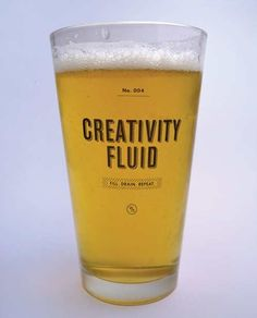Fill me up bartender, I'm gettin creative