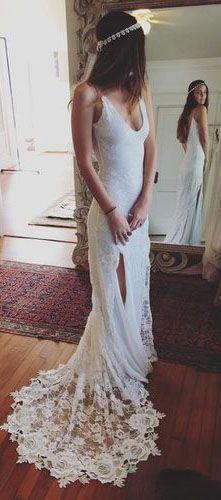 Beach Backless Wedding Dress,Beach Wedding Dresses,Mermid Custom Made Wedding Gowns,Sexy Wedding Dress
