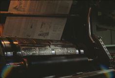 Watchtower magazine being printed on MAN press at Watchtower Farm (Roger Johnson)