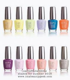 New OPI Infinite Shine Shades for Summer 2015? Click thru to Beautygeeks for more info!