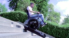 Scalevo - The Stairclimbing Wheelchair.  Engineers of ETH built a robotic, stairclimbing wheelchair