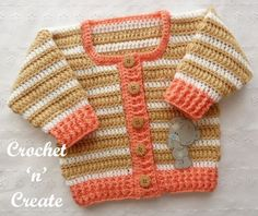 crochet puff stitch cardigan