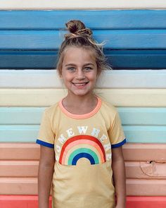 """Cotton On Kids Official on Instagram: """"Meet me at the end of the rainbow! 🌈 Buy one Penelope Short Sleeve Tee get one 50% off! Rainbow magic via @emelkebowieandziggy…"""" Rainbow Magic, Get One, Short Sleeve Tee, T Shirts For Women, Tees, Cotton, Stuff To Buy, Instagram, Style"""