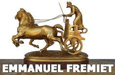 bronze Emmanuel Frémiet Char grec Barbedienne fondeur
