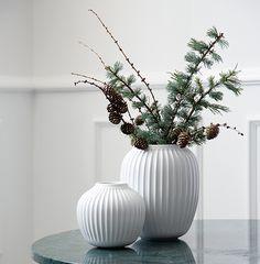 Kähler - Hammershøi Vase | Christmas decor | Winter decoration | Neutral decor