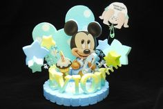 BABY SHOWER MICKEY MOUSE CAKE TOPPER