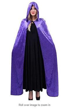 Women's Velvet Hooded Cloak Costume for Halloween