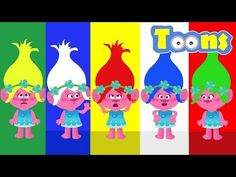 Learning Colors With Trolls & Poppys Escuchar Canciones Para Niños Finger Family Nursery Rhymes - YouTube