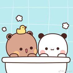 Cute Kawaii Animals, Kawaii Cat, Cute Images, Cute Pictures, Cute Love Gif, Kawaii Illustration, Little Panda, Bear Wallpaper, Cute Anime Guys